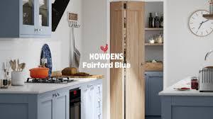 navy blue kitchen cabinets howdens fairford blue shaker kitchen