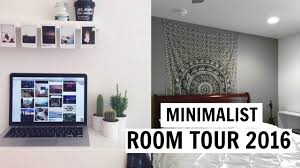 minimalist room tour 2016 inspired youtube