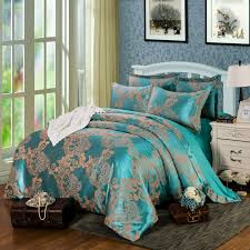 online shop sale white flowers silk tencel satin jacquard bed