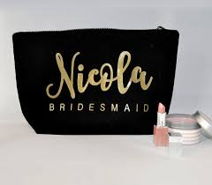 wedding gift kits personalized title names makeup toiletry kits bridesmaid wedding