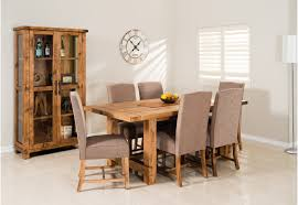 Industrial Kitchen Table Furniture Industrial 7 Piece Dining Suite Amart Furniture