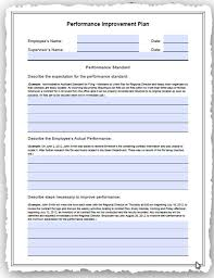 hr development plan template human resources performance improvement plan pip template