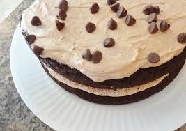 gluten free mocha chocolate cake with mocha buttercream frosting