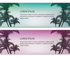 palm tree vector banners vector graphics freevector