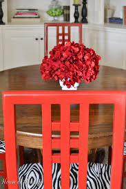 DIY Red Dining Room Chairs Hometalk - Red dining room chairs