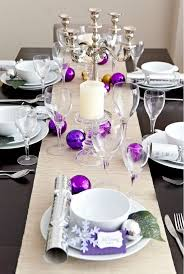 christmas tabletop decoration ideas colorful christmas tabletop decor ideas white purple and