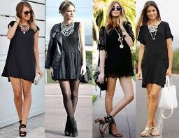 black necklace dress images Little black dress with statement necklace accesorios jpg