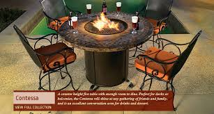 fire pits double as dining tables and beverage coolers rich u0027s