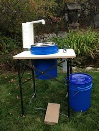 c sink with foot pump portable sink with and cold water studio ideas pinterest