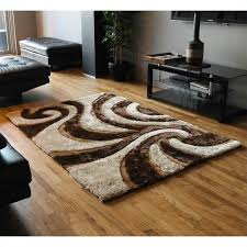 blazing needles shag rug in beige and brown sc 40 be br