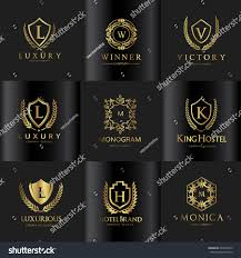 luxury logo set stock vector 620395643 shutterstock