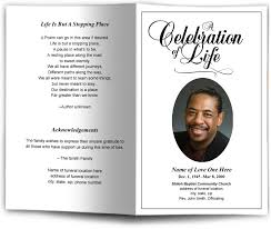 funeral programs classic funeral program template memorial service bulletin templates