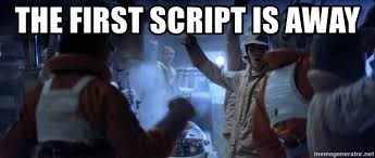 Meme Generator Script - the first script is away first transport is away meme generator