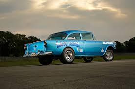 a street driven 1955 chevrolet 210 gasser gets a new identity