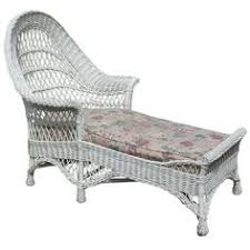 Chaise Lounge Chair Matching Pair Bar Harbor Wicker Armchair Rocker Armchairs
