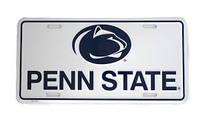 penn state alumni license plate penn state white metal license plate nittany lions psu