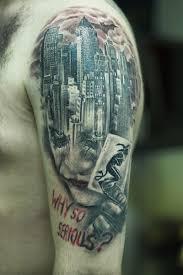 joker gotham city tattoo by christo