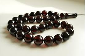 red prayer bead bracelet images Red cherry color baltic amber islamic prayer beads 74 4 grams 15 jpg
