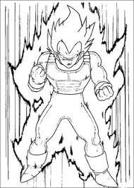 goku dragon ball anime coloring pages kids printable free