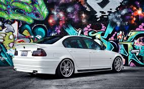teal car white rims bmw multicolor cats graffiti tuning coupe rims bmw 3 series white