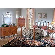 Wrought Iron And Wood Nightstands Metal U0026 Wood Bedroom Sets You U0027ll Love Wayfair