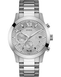 guess stainless steel bracelet images Bargains on guess men 39 s chronograph stainless steel bracelet watch
