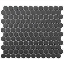 Elegance Black And White Mosaic by Hexagon Tile Flooring The Home Depot