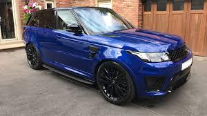 blue range rover range rover sport svr 2017 17 pm cars ashton