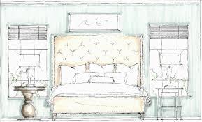 Room Sketch Draw Interior Design Bedroom Design Sketches Bedroom Sketch