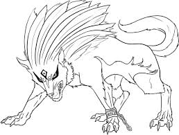 tree steps of a werewolf transformation coloring page shimosoku biz