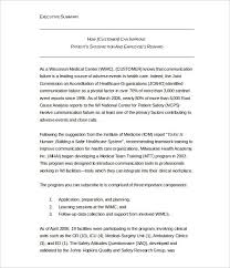 Executive Summary For Resume Examples by Executive Summary Format Template Executive Summary Example