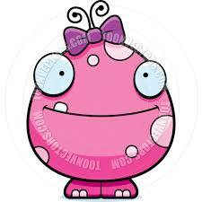 cartoon baby alien monster happy by cory thoman toon