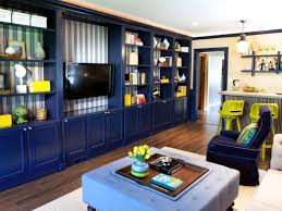 Home Decor Family Room Fascinating Family Room With Navy Room Theme Of Backdrop Tv Also