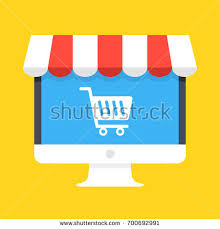 Awning Online Online Store Concept On Computer Screen Stock Vector 688534027