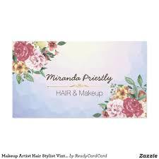 Makeup Artist Supply Makeup Artist Hair Stylist Vintage Floral Elegant Business Card
