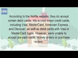 pre pay card can you pay with a debit card on netflix