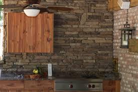 Kitchen Backsplash Stone by Walnut Ledge Stone Kitchen Back Splash