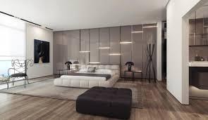 gray gloss wall lighting panels for modern bedroom design ideas