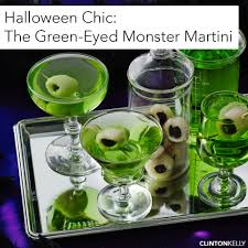 halloween chic the green eyed monster martini clinton kelly