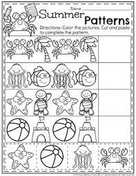 summer preschool worksheets planning playtime
