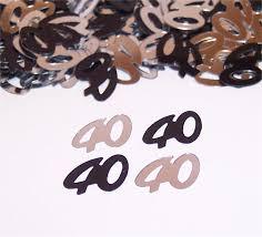 40th Bday Decorations 40th Birthday Decorations Black And Silver U2014 Criolla Brithday