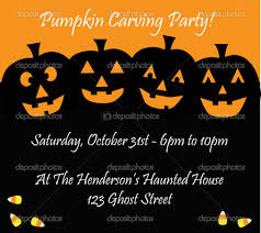 pumpkin invitation pumpkin carving party invitation which various color combination