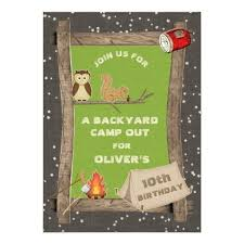 Backyard Birthday Party Invitations by 234 Best Camp Out Invitations Images On Pinterest Camping Texts