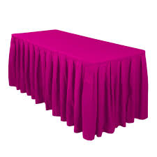 fuchsia table skirts u2013 red balloon party rental