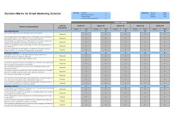 quote comparison format excel matrix template toreto co