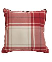 Best Home Furnishing Shops Uk Buy Heart Of House Angus Check Cushion Red At Argos Co Uk Your