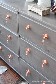 Update A Dresser Diy Copper Drawer Pulls Update An Ikea Dresser Ikea Hackers
