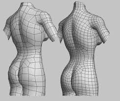Female Body Reference For 3d Modelling 34 Best Topology Body Images On Pinterest Wireframe Character