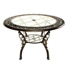 Glass Top Patio Dining Table Glass Patio Dining Tables Patio Tables The Home Depot