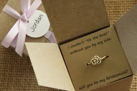 will you be my of honor gift tie the knot ring will you be my bridesmaid gift of honor